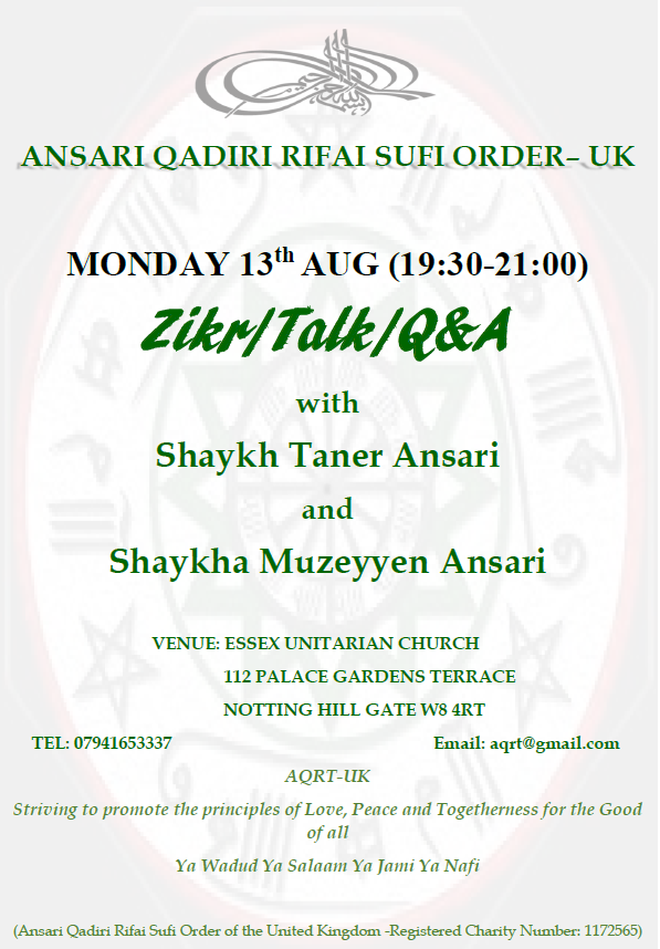 SHAYKH zikr flyer Aug 2018